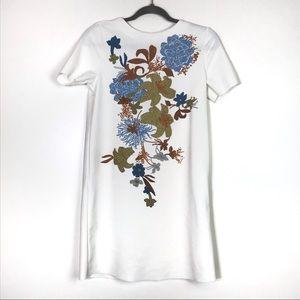 Zara Faux Sequin Floral Shift Dress S EUC
